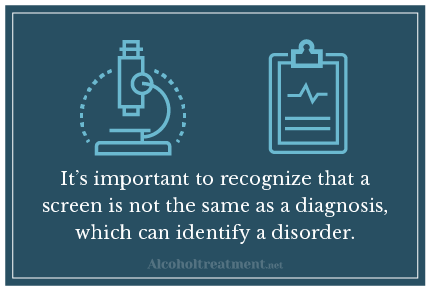 Alcoholtreatment.net Alcohol Screening Test_Screen vs diagnosis